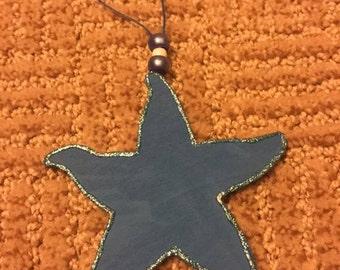 Wooden Starfish Ornament