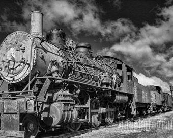 Railroad Decor, Steam Locomotive, Train Photo, Railroad Photography, Train Photography, Train Decor, Vintage Train, Steam Engine