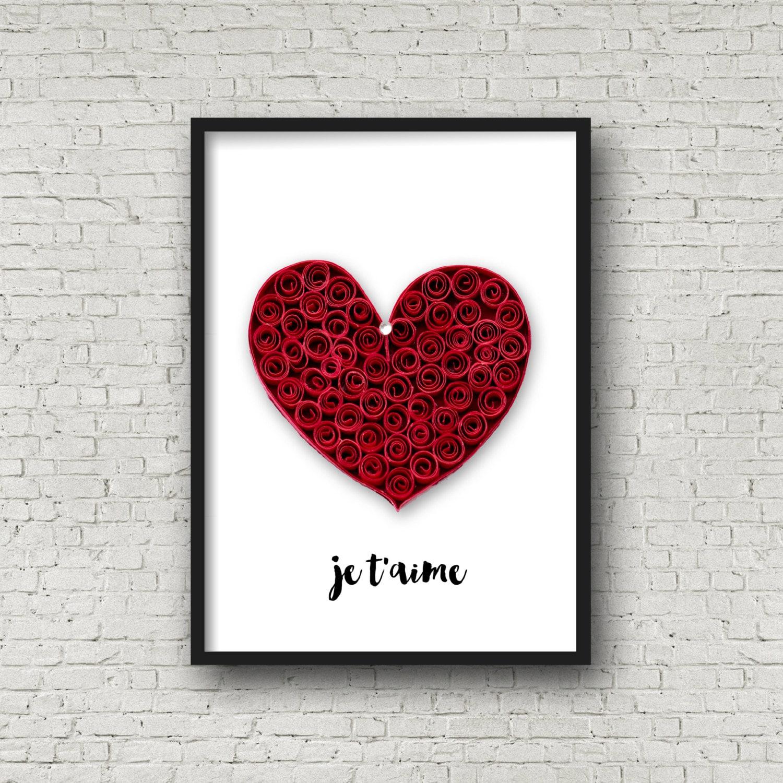 Wall Art Love Hearts : Wall art prints love heart print by