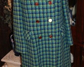 Fab Vintage Plaid Bromleigh Daniels Wool Coat