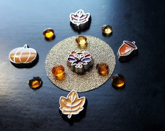 Thanksgiving Floating Charm Set for Floating Lockets-13-Pieces-Includes Pretty Palazzo Exclusive Charm Designs-Gift Idea