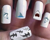 Sharks - Assorted Water Slide Nail Decals