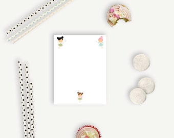 Mini Personalized Notepads - Fairy Princess - Personalized Notepads - 25-50 Pages