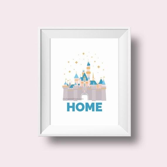 Disneyland Castle Home Wall Art Printable Disney Sleeping Beauty