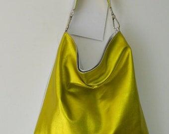 """bag model """"flat sack"""" laminated leather"""