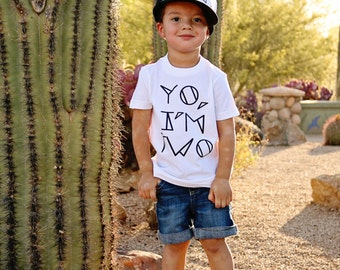 YO, I'M TWO Kids Tee + Tank, Two Year Old Birthday Shirt, Toddler t-shirt, Trendy kids clothes, Hipster kids clothes, Birthday Party