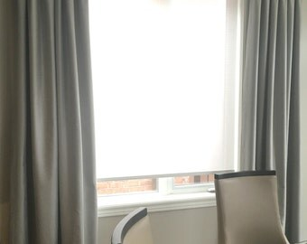 "Grey Tones, Custom Drapes ""Cheval"", Pinch Pleated,  solid coloured drapes, Drapery Panels"