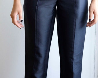 Vintage Navy Calvin Klein Silk pants size 8-10