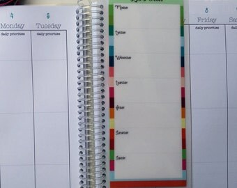 Planner Bookmark Dashboard Meal Planner Coil Clip In