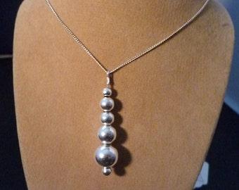 Unusual silver necklace - unusual pendant - 925 - sterling silver - women