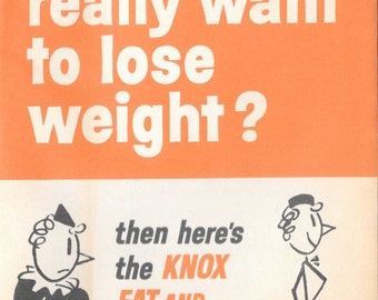 Funny Knox Gelatin Weight Loss Booklet Mid Century Don Herald Mod Graphics Humor Recipes Tips