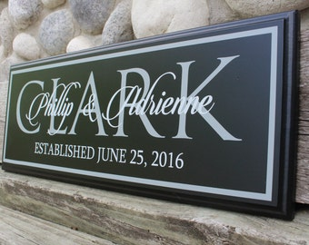 Wedding gifts personalized-gift for fiance-for her-engagement gift-custom wedding gift-for him-couple name wall sign-sign for wedding