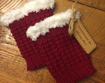 Santa Knit Boot Cuffs for Women