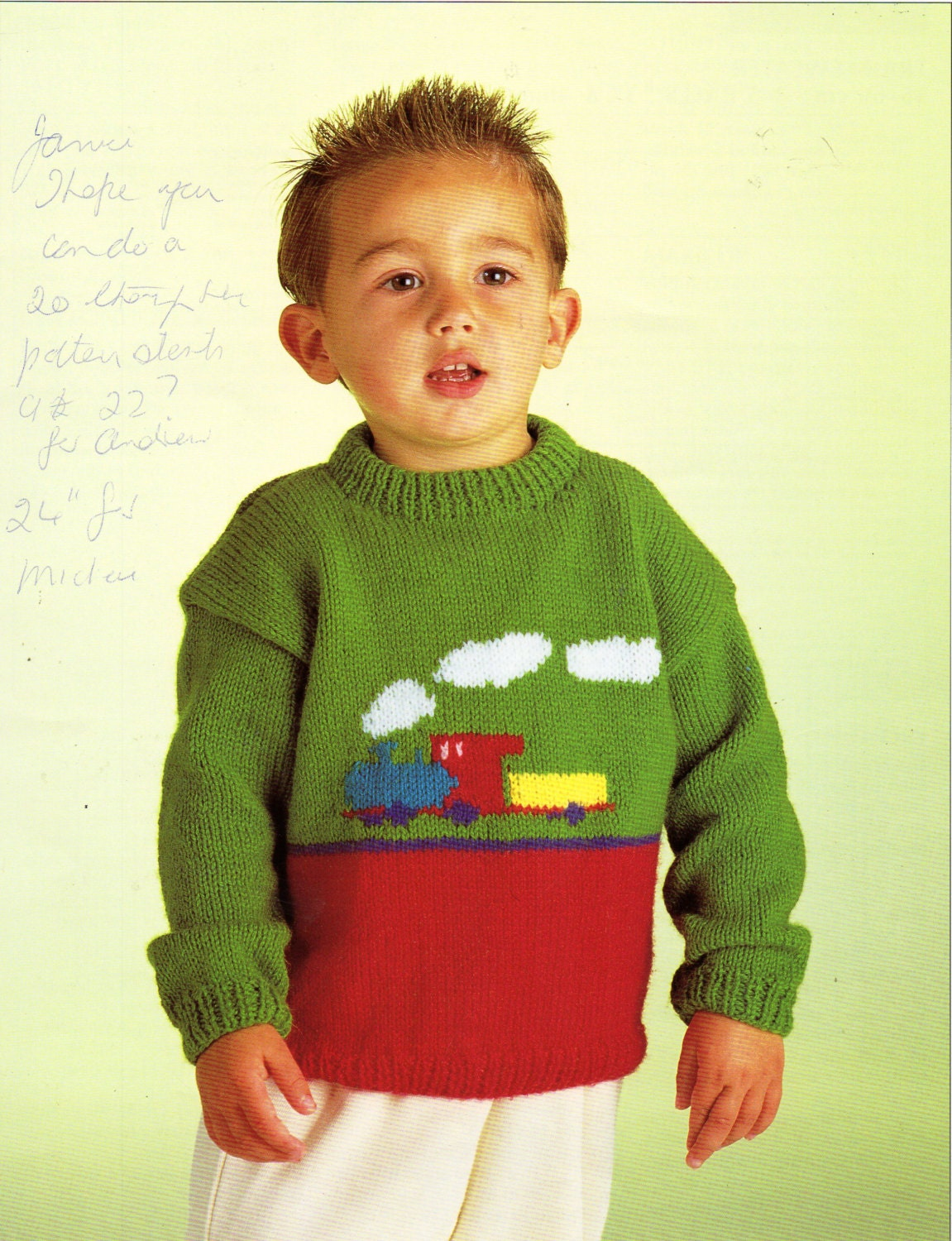 Train Knitting Pattern : baby childs childrens train sweater knitting pattern PDF train