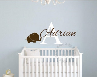 elefant wand aufkleber etsy. Black Bedroom Furniture Sets. Home Design Ideas