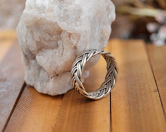 Father's day gift Viking rings, Braided rings,men gifts,Celtic eternity ring,Popular Asgard ring,Celtic braided knot ring.