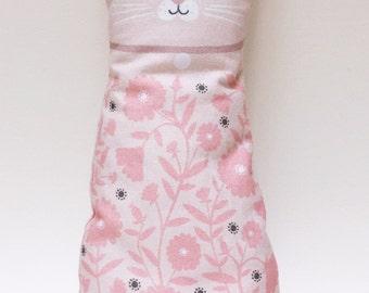 Plush Cat Doll Cushion, Pink