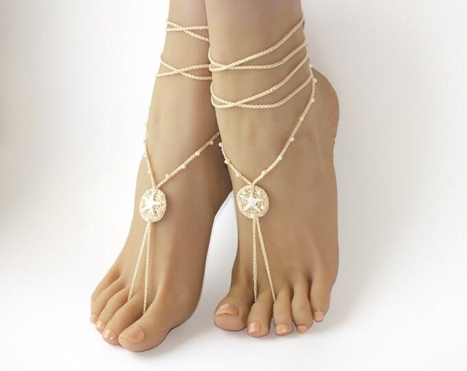 Bridal barefoot sandals, barefoot sandals, bare sandals