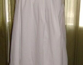 Civil War Reenactment Pioneer Homestead Ladies Cotton Muslin Chemise Shift Petticoat