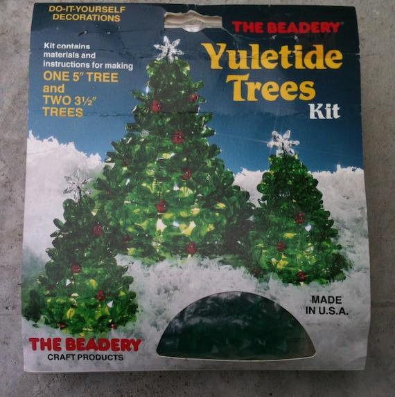 Yuletide Tree Vintage kit The Beadery DIY Christmas decoration