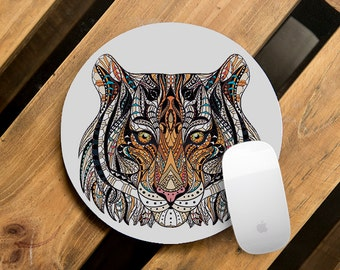 Round Mouse Mat Office Supplies Best Mousepad Animal Pattern Mouse Pad Tiger Gift for Coworker Design Computer Accessories Indian CMP_167