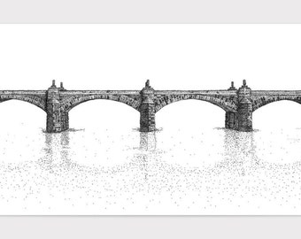 Market Street Bridge -  Limited Edition Fine Art Digital Giclee Print