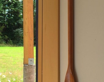 Hand Carved Cherry Wood Shoe Horn, Canoe Horn, Wooden Shoe Horn