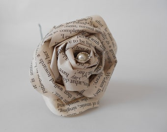 Wedding paper book flowers Pride and Prejudice