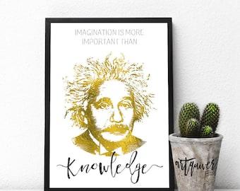 Inspirational posters, Albert Einstein Quotes, Albert Einstein posters, famous quotes about life, motivational, Wall Art, framed ART