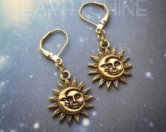 Sun and Moon earrings, sold per pair (leave QTY as 1)