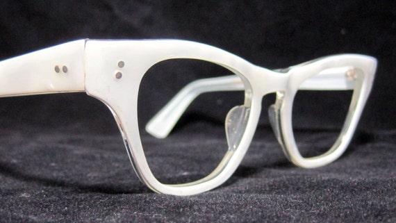 Vintage Eyeglass Frames New Old Stock : Vintage 60s EyeGlasses. New Old Stock. Pearl White Frames