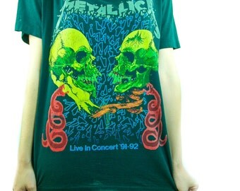 Vintage Metallica Shirt 90s Band Tee Concert shirt 90s tee 90s shirt Heavy Metal Concert tee Rocker Metal Metallica Tee Metallica shirt Dio