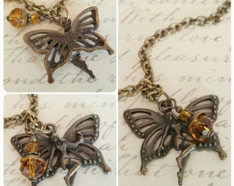 Whimsical Fairy Charm Pendant Necklace