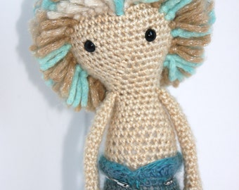 Ready Made•Crochet Amigurumi Mermaid Merman Plush Stuffed Toy