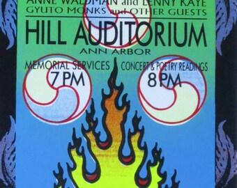 ORIGINAL Mark Arminski Handbill, Allen Ginsberg Memorial