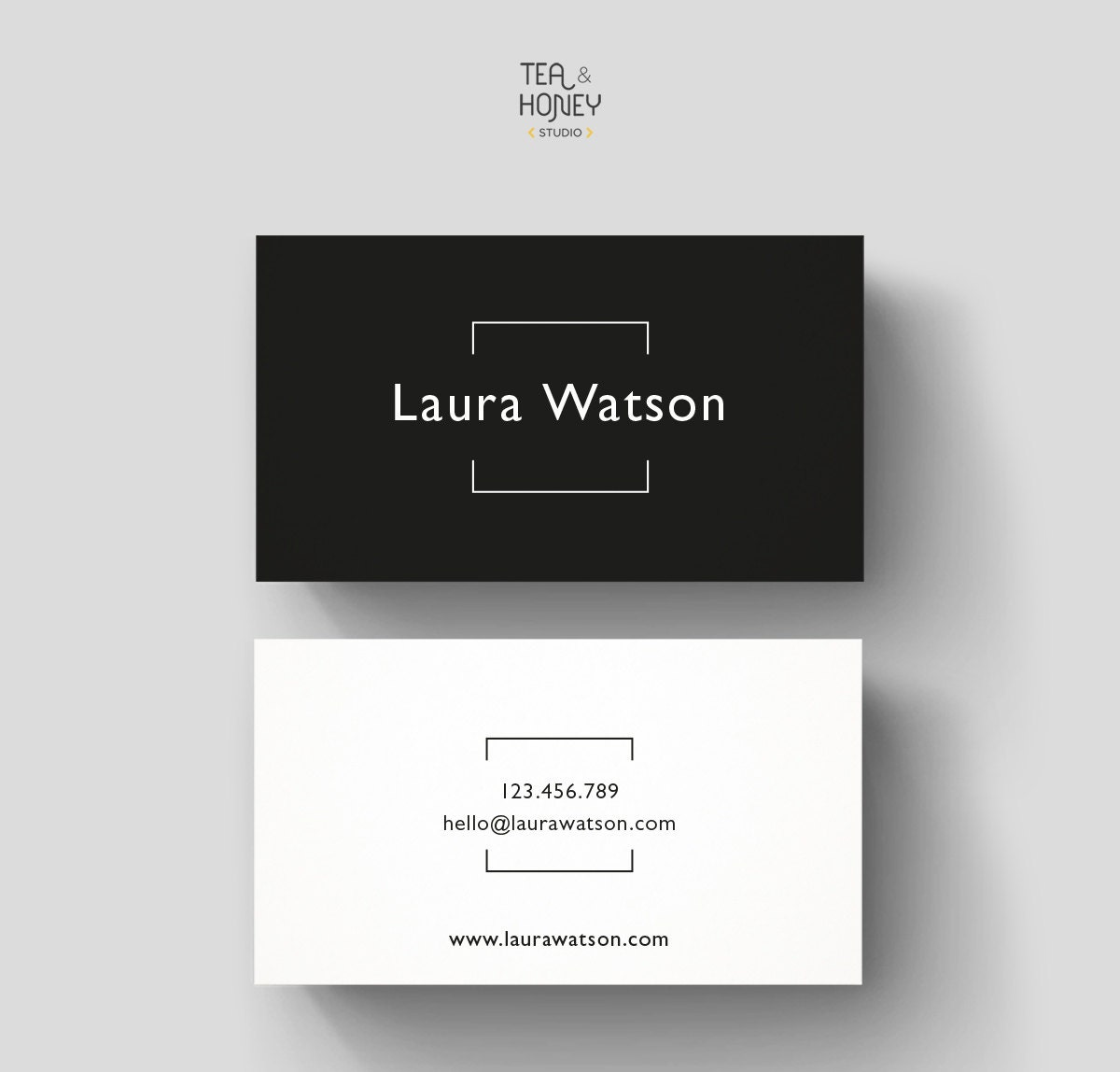 Minimalistic business card premade design black white zoom magicingreecefo Images