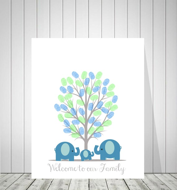 Baby Shower Guest Book Canvas ~ Baby shower thumbprint canvas guest book fingerprint