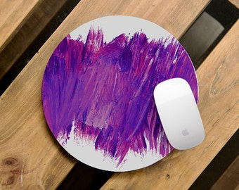 Mousemat Art Designer Mousepad Watercolor Abstract Mouse Pad Purple Gifts Office Supplies Hipster Mousepad Rubber Mousemat Oval Pad CMP_091