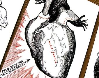Heartbreak Postcard * Portable Fortitude