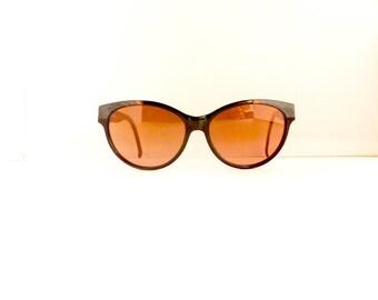 Serengeti Drivers Sunglasses Frames // Women's 1990's //Black with White & Bronze Frames //Corning Optics//Model 6232L//#M162 DIVINE