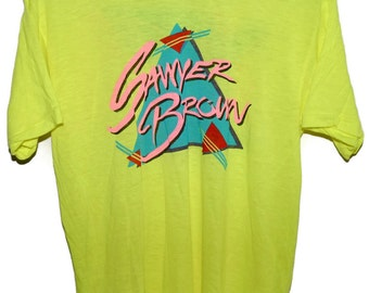 Vintage 80s SAWYER BROWN Country Rock & Roll Concert Tour T SHIRT 50/50 Signal M