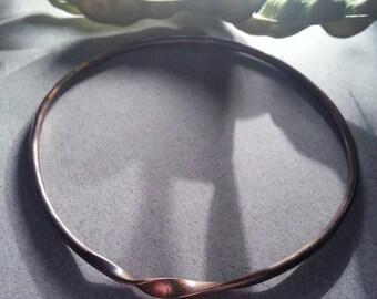 Forged Brass Bangle Bracelet twist