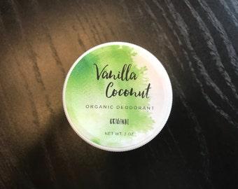 Vanilla Coconut Organic Deodorant - Original Formula (4 oz)