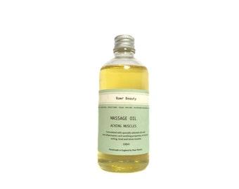 Organic Massage Oil Aching Muscles | 100% Organic Oil | Organic Massage Oil | Vegan Friendly | Cruelty Free | 100ml