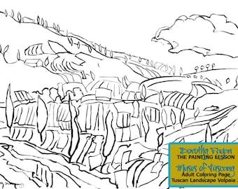 Tuscan Landscape Poster ~ Download Print