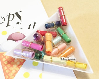 Transparent Secret Message Pills - Rainbow Colors (15 pcs / 75 pcs) Kawaii Happy Pills Fake Pills Cabochons A0310