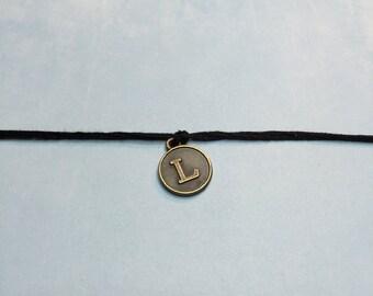 Personalized Friendship Bracelet~Initial Make a Wish Bracelet-Good Friend Jewelry-BRONZE INITIAL-Best Friend Initial Bracelet-BFF Bracelet