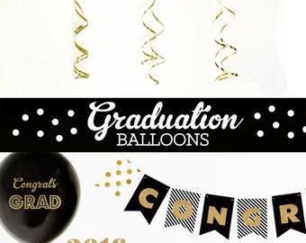 Graduation Gift Grad Gifts Highschool Graduation Gift College Graduation Gift Graduation Gift Ideas (EB3110GRD) SET of 3 Balloons