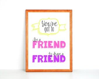 Kid Printable: Be A Friend