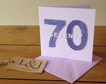 70th Birthday Card - 70th Birthday - 70th Card - Seventieth Birthday - Happy 70th Birthday - Seventieth - 70th - 70 Years - Seventy Card